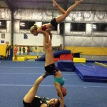 acro trio in pyramid